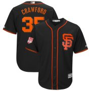 Wholesale Cheap Giants #35 Brandon Crawford Black 2019 Spring Training Cool Base Stitched MLB Jersey