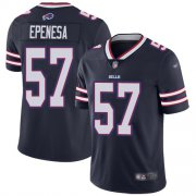 Wholesale Cheap Nike Bills #57 A.J. Epenesas Navy Youth Stitched NFL Limited Inverted Legend Jersey