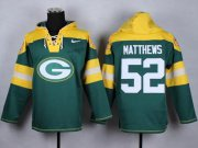 Wholesale Nike Packers #52 Clay Matthews Green Player Pullover NFL Hoodie