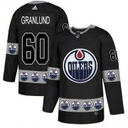 Wholesale Cheap Adidas Oilers #60 Markus Granlund Black Authentic Team Logo Fashion Stitched NHL Jersey