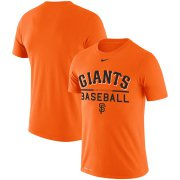 Wholesale Cheap San Francisco Giants Nike Practice Performance T-Shirt Orange