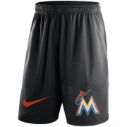 Wholesale Cheap Men's Miami Marlins Nike Black Dry Fly Shorts