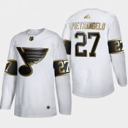 Wholesale Cheap St. Louis Blues #27 Alex Pietrangelo Men's Adidas White Golden Edition Limited Stitched NHL Jersey