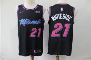 Wholesale Cheap Heat 21 Hassan Whiteside Black City Edition Nike Swingman Jersey