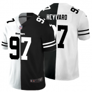 Cheap Pittsburgh Steelers #97 Cameron Heyward Men's Black V White Peace Split Nike Vapor Untouchable Limited NFL Jersey