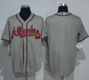 Wholesale Cheap Braves Blank Grey New Cool Base Stitched MLB Jersey