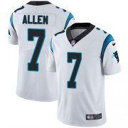 Wholesale Cheap Nike Panthers #7 Kyle Allen White Men's Stitched NFL Vapor Untouchable Limited Jersey