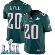 Wholesale Cheap Nike Eagles #20 Brian Dawkins Midnight Green Team Color Super Bowl LII Men's Stitched NFL Vapor Untouchable Limited Jersey