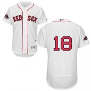 Wholesale Cheap Red Sox #18 Mitch Moreland White Flexbase Authentic Collection 2018 World Series Champions Stitched MLB Jersey