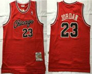 Wholesale Cheap Men's Chicago Bulls #23 Michael Jordan Red 1984-85 Hardwood Classics Jersey