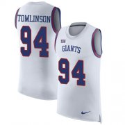 Wholesale Cheap Nike Giants #94 Dalvin Tomlinson White Men's Stitched NFL Limited Rush Tank Top Jersey