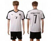 Wholesale Cheap Austria #7 Arnautovic White Away Soccer Country Jersey