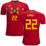 Wholesale Cheap Belgium #22 Chadli Red Soccer Country Jersey