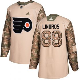 Wholesale Cheap Adidas Flyers #88 Eric Lindros Camo Authentic 2017 Veterans Day Stitched Youth NHL Jersey