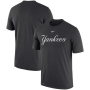 Wholesale Cheap New York Yankees Nike Batting Practice Logo Legend Performance T-Shirt Charcoal