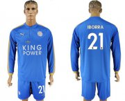 Wholesale Cheap Leicester City #21 Iborra Home Long Sleeves Soccer Club Jersey