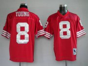 Wholesale Cheap Mitchell and Ness 49ers #8 Steve Young Stitched Red NFL Jersey