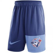 Wholesale Cheap Men's Toronto Blue Jays Nike Royal Cooperstown Collection Dry Fly Shorts