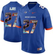 Wholesale Cheap Boise State Broncos 27 Jay Ajayi Blue With Portrait Print College Football Jersey