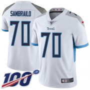 Wholesale Cheap Nike Titans #70 Ty Sambrailo White Youth Stitched NFL 100th Season Vapor Untouchable Limited Jersey