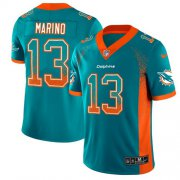 Wholesale Cheap Nike Dolphins #13 Dan Marino Aqua Green Team Color Men's Stitched NFL Limited Rush Drift Fashion Jersey