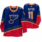 Wholesale Cheap St. Louis Blues #11 Brian Sutter 90s Vintage 2019-20 Authentic Royal NHL Jersey