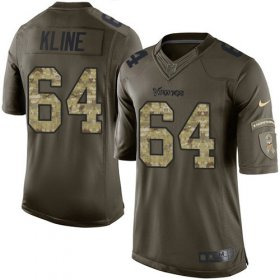 Wholesale Cheap Nike Vikings #64 Josh Kline Green Men\'s Stitched NFL Limited 2015 Salute To Service Jersey