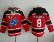 Wholesale Cheap Royals #8 Mike Moustakas Red Sawyer Hooded Sweatshirt MLB Hoodie