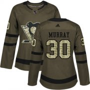 Wholesale Cheap Adidas Penguins #30 Matt Murray Green Salute to Service Women's Stitched NHL Jersey
