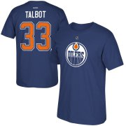 Wholesale Cheap Edmonton Oilers #33 Cam Talbot Reebok Name & Number T-Shirt Blue