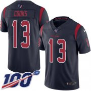 Wholesale Cheap Nike Texans #13 Brandin Cooks Navy Blue Youth Stitched NFL Limited Rush 100th Season Jersey