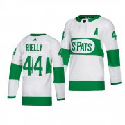 Wholesale Cheap Maple Leafs #44 Morgan Rielly adidas White 2019 St. Patrick's Day Authentic Player Stitched NHL Jersey