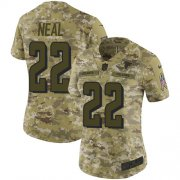 Wholesale Cheap Nike Falcons #22 Keanu Neal Camo Women's Stitched NFL Limited 2018 Salute to Service Jersey
