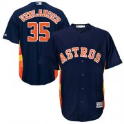 Wholesale Cheap Astros #35 Justin Verlander Navy Blue Cool Base Stitched Youth MLB Jersey