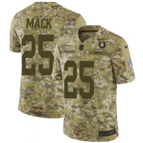 Wholesale Cheap Nike Colts #25 Marlon Mack Camo Youth Stitched NFL Limited 2018 Salute to Service Jersey