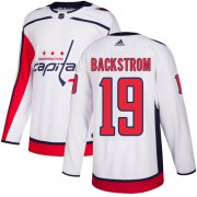 Wholesale Cheap Adidas Capitals #19 Nicklas Backstrom White Road Authentic Stitched Youth NHL Jersey