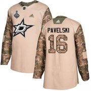 Cheap Adidas Stars #16 Joe Pavelski Camo Authentic 2017 Veterans Day Youth 2020 Stanley Cup Final Stitched NHL Jersey