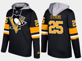 Wholesale Cheap Penguins #25 Kevin Stevens Black Name And Number Hoodie