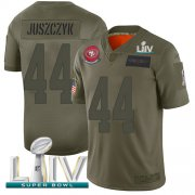 Wholesale Cheap Nike 49ers #44 Kyle Juszczyk Camo Super Bowl LIV 2020 Men's Stitched NFL Limited 2019 Salute To Service Jersey