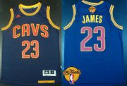 Wholesale Cheap Men's Cleveland Cavaliers #23 LeBron James 2015 The Finals New Navy Blue Jersey
