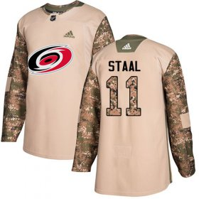 Wholesale Cheap Adidas Hurricanes #11 Jordan Staal Camo Authentic 2017 Veterans Day Stitched Youth NHL Jersey