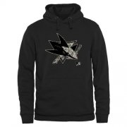 Wholesale Cheap Men's San Jose Sharks Black Rink Warrior Pullover Hoodie