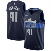 Wholesale Cheap Nike Mavericks #41 Dirk Nowitzki Navy Swingman Jersey