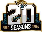 Wholesale Cheap Stitched NFL Jacksonville Jaguars 1995-2014 20TH Season Jersey Patch