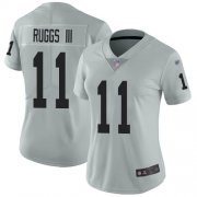 Wholesale Cheap Nike Raiders #11 Henry Ruggs III Silver Women's Stitched NFL Limited Inverted Legend Jersey