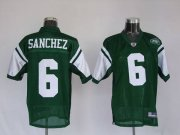 Wholesale Cheap Jets Mark Sanchez #6 Stitched Green NFL Jersey