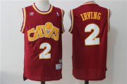 Wholesale Cheap Men's Cleveland Cavaliers #2 Kyrie Irving Burgundy Hardwood Classics Soul Swingman Throwback Jersey