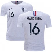 Wholesale Cheap France #16 Mandanda Away Kid Soccer Country Jersey