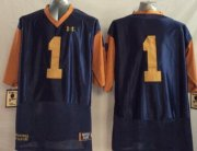 Wholesale Cheap Notre Dame Fighting Irish #1 Greg Bryant 2014 Blue With Yellow Jersey