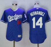 Wholesale Cheap Dodgers #14 Enrique Hernandez Blue Flexbase Authentic Collection Stitched MLB Jersey